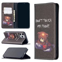 Chainsaw Bear Slim Magnetic Attraction Wallet Flip Cover for iPhone 12 / 12 Pro (6.1 inch)