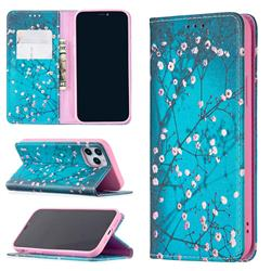 Plum Blossom Slim Magnetic Attraction Wallet Flip Cover for iPhone 12 / 12 Pro (6.1 inch)