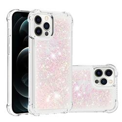 Dynamic Liquid Glitter Sand Quicksand TPU Case for iPhone 12 Pro Max (6.7 inch) - Silver Powder Star