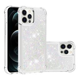 Dynamic Liquid Glitter Sand Quicksand Star TPU Case for iPhone 12 Pro Max (6.7 inch) - Pink