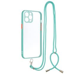 Necklace Cross-body Lanyard Strap Cord Phone Case Cover for iPhone 12 Pro Max (6.7 inch) - Blue