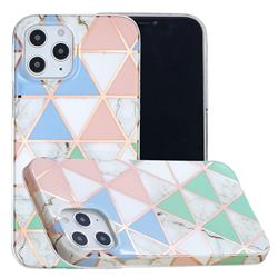 Fresh Triangle Painted Marble Electroplating Protective Case for iPhone 12 Pro Max (6.7 inch)
