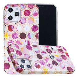 Round Puzzle Painted Marble Electroplating Protective Case for iPhone 12 Pro Max (6.7 inch)