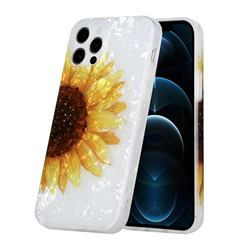 Face Sunflower Shell Pattern Glossy Rubber Silicone Protective Case Cover for iPhone 12 Pro Max (6.7 inch)