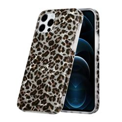 Leopard Shell Pattern Glossy Rubber Silicone Protective Case Cover for iPhone 12 Pro Max (6.7 inch)