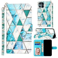 Stitching Marble 3D Leather Phone Holster Wallet Case for iPhone 12 Pro Max (6.7 inch)