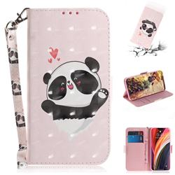 Heart Cat 3D Painted Leather Wallet Phone Case for iPhone 12 Pro Max (6.7 inch)