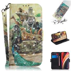 Beast Zoo 3D Painted Leather Wallet Phone Case for iPhone 12 Pro Max (6.7 inch)