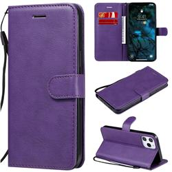 Retro Greek Classic Smooth PU Leather Wallet Phone Case for iPhone 12 Pro Max (6.7 inch) - Purple