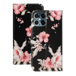 Azalea Flower PU Leather Wallet Case for iPhone 12 Pro Max (6.7 inch)