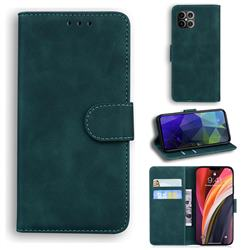 Retro Classic Skin Feel Leather Wallet Phone Case for iPhone 12 Pro Max (6.7 inch) - Green