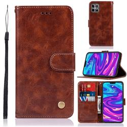 Luxury Retro Leather Wallet Case for iPhone 12 Pro Max (6.7 inch) - Brown