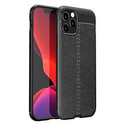 Luxury Auto Focus Litchi Texture Silicone TPU Back Cover for iPhone 12 Pro Max (6.7 inch) - Black