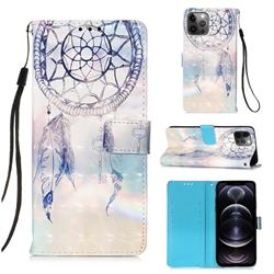 Fantasy Campanula 3D Painted Leather Wallet Case for iPhone 12 Pro Max (6.7 inch)