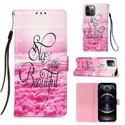 Beautiful 3D Painted Leather Wallet Case for iPhone 12 Pro Max (6.7 inch)