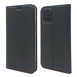 Ultra Slim Card Magnetic Automatic Suction Leather Wallet Case for iPhone 12 Pro Max (6.7 inch) - Star Grey