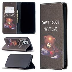 Chainsaw Bear Slim Magnetic Attraction Wallet Flip Cover for iPhone 12 Pro Max (6.7 inch)