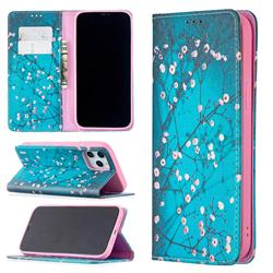Plum Blossom Slim Magnetic Attraction Wallet Flip Cover for iPhone 12 Pro Max (6.7 inch)