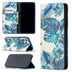 Blue Leaf Slim Magnetic Attraction Wallet Flip Cover for iPhone 12 Pro Max (6.7 inch)