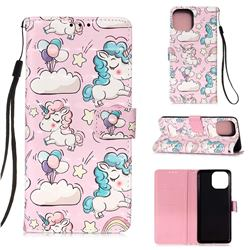 Angel Pony 3D Painted Leather Wallet Case for iPhone 13 (6.1 inch)