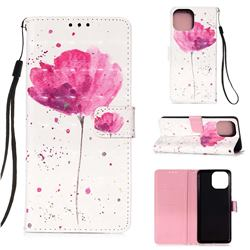 Watercolor 3D Painted Leather Wallet Case for iPhone 13 (6.1 inch)