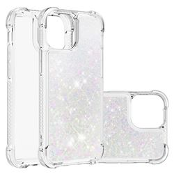 Dynamic Liquid Glitter Sand Quicksand Star TPU Case for iPhone 13 mini (5.4 inch) - Pink