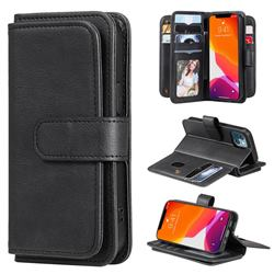 Multi-function Ten Card Slots and Photo Frame PU Leather Wallet Phone Case Cover for iPhone 13 mini (5.4 inch) - Black