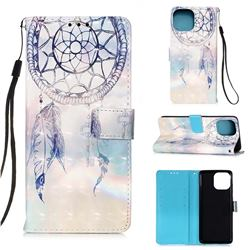 Fantasy Campanula 3D Painted Leather Wallet Case for iPhone 13 mini (5.4 inch)