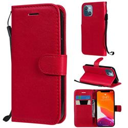 Retro Greek Classic Smooth PU Leather Wallet Phone Case for iPhone 13 mini (5.4 inch) - Red