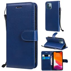 Retro Greek Classic Smooth PU Leather Wallet Phone Case for iPhone 13 mini (5.4 inch) - Blue