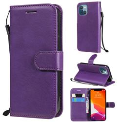 Retro Greek Classic Smooth PU Leather Wallet Phone Case for iPhone 13 mini (5.4 inch) - Purple