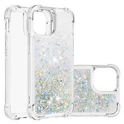 Dynamic Liquid Glitter Sand Quicksand Star TPU Case for iPhone 13 Pro (6.1 inch) - Silver