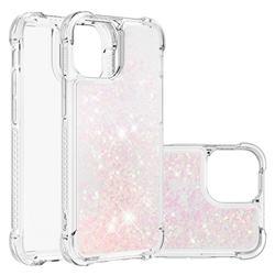 Dynamic Liquid Glitter Sand Quicksand TPU Case for iPhone 13 Pro (6.1 inch) - Silver Powder Star