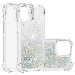 Dynamic Liquid Glitter Sand Quicksand Star TPU Case for iPhone 13 Pro Max (6.7 inch) - Silver