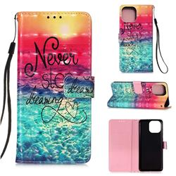 Colorful Dream Catcher 3D Painted Leather Wallet Case for iPhone 13 Pro Max (6.7 inch)