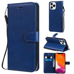 Retro Greek Classic Smooth PU Leather Wallet Phone Case for iPhone 13 Pro Max (6.7 inch) - Blue