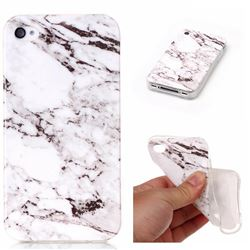 White Soft TPU Marble Pattern Case for iPhone 4s 4 4G