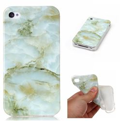 Jade Green Soft TPU Marble Pattern Case for iPhone 4s 4 4G