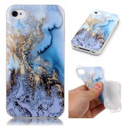 Sea Blue Soft TPU Marble Pattern Case for iPhone 4s 4 4G