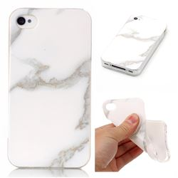 Jade White Soft TPU Marble Pattern Case for iPhone 4s 4 4G