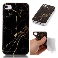 Black Gold Soft TPU Marble Pattern Case for iPhone 4s 4 4G