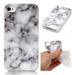 Smoke White Soft TPU Marble Pattern Case for iPhone 4s 4 4G