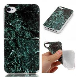 Dark Green Soft TPU Marble Pattern Case for iPhone 4s 4 4G