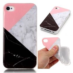 Tricolor Soft TPU Marble Pattern Case for iPhone 4s 4 4G