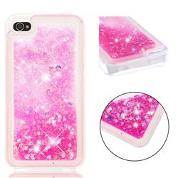 Dynamic Liquid Glitter Quicksand Sequins TPU Phone Case for iPhone 4s 4 - Rose
