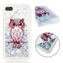 Seashell Owl Dynamic Liquid Glitter Quicksand Soft TPU Case for iPhone 4s 4