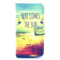 Here Comes the Sun Leather Wallet Case for iPhone 4s / iPhone 4