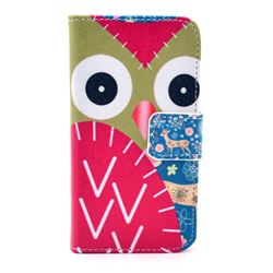 Cute Owl Leather Wallet Case for iPhone 4s / iPhone 4