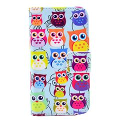 Cute Owls Leather Wallet Case for iPhone 4s / iPhone 4