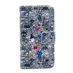 Cartoon Collection Leather Wallet Case for iPhone 4s / iPhone 4